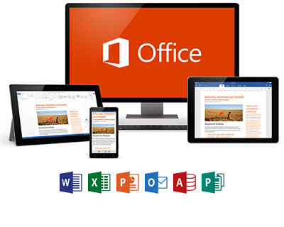 New Microsoft Office 365 Home Subscription 5 Users PC/Mac | 1TB