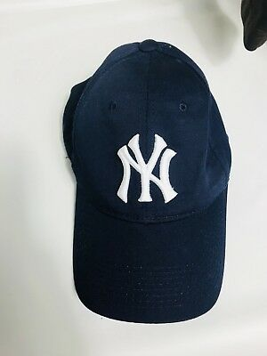 cecf44670eb New York Yankees MLB OC Sports Hat Cap Solid Blue White NY Logo Team  Adjustable