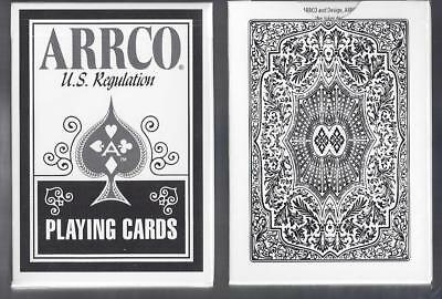 Arrco playing cards black and white back FREE USA SHIPPING