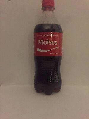 Share A Coke With Moises Personalized Name Coca Cola Collectible Bottle.