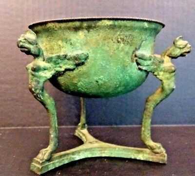 Roman/Etruscan Style Bronze Vessel - Beautiful Patina