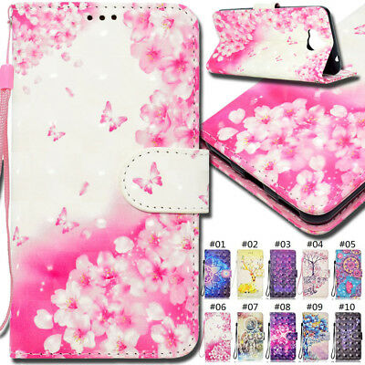 For Huawei Y5(2017)/Y6(2017) 3D Flip Stand Wallet Card PU Leather TPU Cover Case