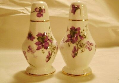 Hammersley Victorian Violets Salt & Pepper Shakers