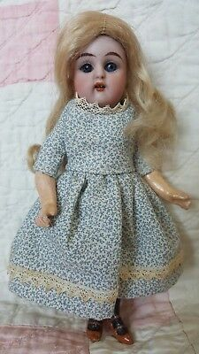 "6.25"" Antique Early German Bisque Simon & Halbig K * R Sleep Eyes Dollhouse Doll"