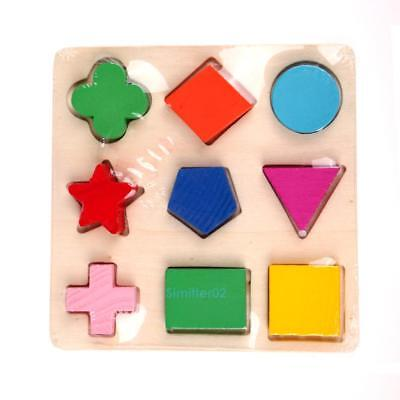 Wooden fraction shape puzzle toy for Montessori Early learning A63b Kids Gift