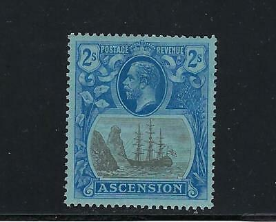 1924-33 Ascension Scott 20 Seal of Colony 2sh ultra & gray, blue paper MH--fresh