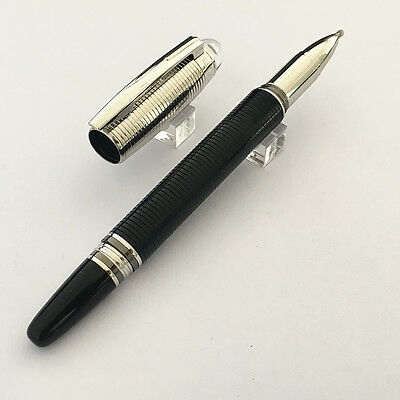 High Quality MB black/silver Luxury Roller pen with crystal cap
