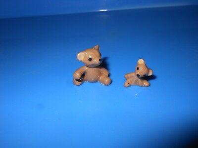 Hagen-Renaker Big Brother Teddy A-466 and Little Brother Teddy A-467b