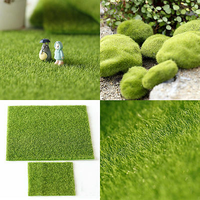 Dolls House Garden DIY Green Lawn Grass Carpet Dollhouse Moss for Miniature