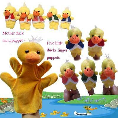 Cute Little Ducks Animal Hand Finger Puppets Story Telling Nursery Tale Kid Gift