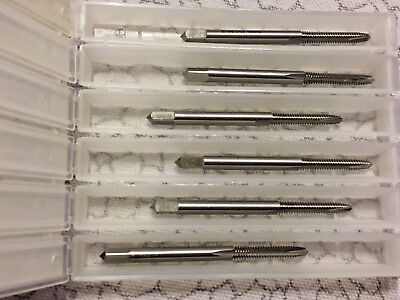 Lot of 6 Cleveland Spiral Point Tap #4-40 2 Flute H2 HSS TiCN Coated