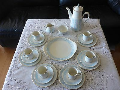 Royal Doulton England Hampton Court Coffee Set For 6 Demitasse Trio 22 Pc Tc1020