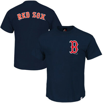 Boston Red Sox Majestic MLB Gamily Logo T-Shirt - Navy