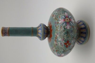 Antique Qing Dynasty Green ground vase DAOGUANG MARK 18th 19th Chinese porcelain
