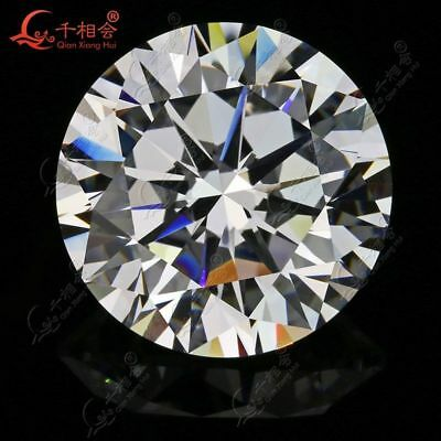 Size 8. 5mm Round Brilliant Cut White Cubic Zirconia Synthetic CZ Loose Gemstone