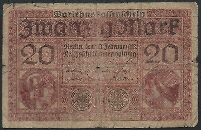 German 20 Marks Banknote early 20th Century