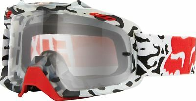 Fox Racing NEW Mx AIRSPC Youth Cauz White Red Fade Clear Motocross Kids Goggles