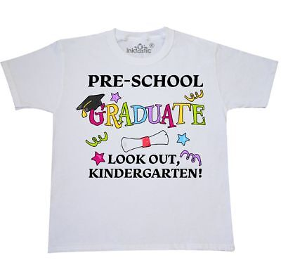 Inktastic Pre-School Graduate Look Out, Kindergarten! Youth T-Shirt Graduation
