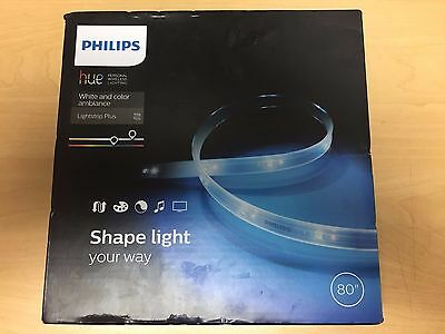 "[NEW] Philips Hue Light Strip Plus LED 6.6' 80"" WHITE & COLOR AMBIANCE FREESHIPP"