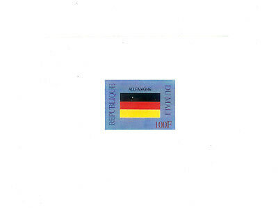 Germany Michel 2327 Flags Drapeaux Imperf Presentation Bloc Luxe MNH