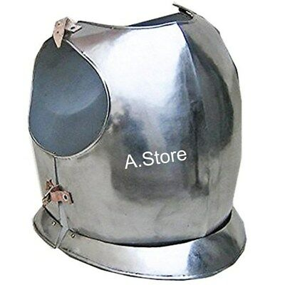 Medieval Knight -Gothic Armor Breast Plate finish chorme