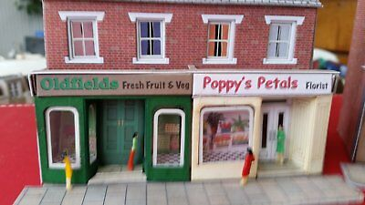 set of 2 shops for a model train set in ho scale free postage