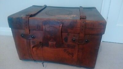 Leather Trunk by Barker &Son, Leeds. C1900.