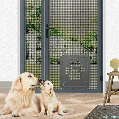 Pet Door Dog Extra Large Gate Lockable Entrance 42 x 37cm ABS Material