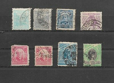 Eight old used Brazilian stamps - Brazil postage (BR2)