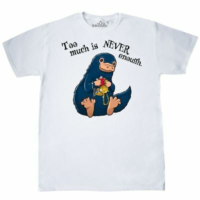 Inktastic Too Much Is Never Enough T-Shirt Wizardry Niffler Potter Harry Beasts