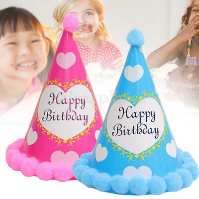 CONO di carta Carino Cappello Girl&Boy compleanno cappello party Supplies Decor