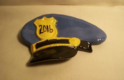 Spoon Rest H26  -42- Ceramic POLICEMAN HAT Spoon Rest