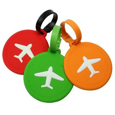 Travel Luggage Tag Round Square Address ID Name Card Suitcase Baggage Label Tags