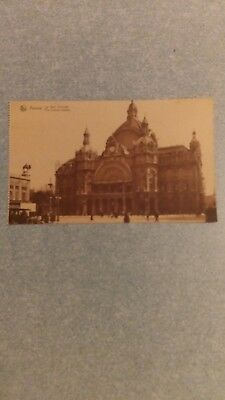 "Ancienne carte postale ""Anvers ""la gare centrale"