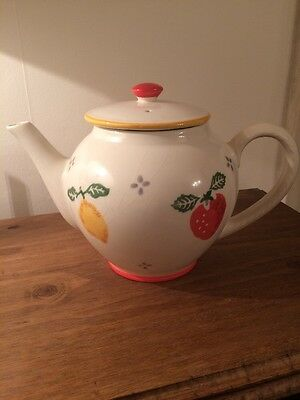 Vintage Laura Ashley Summer Fruits Teapot