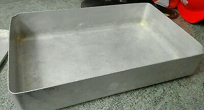 Large Vintage Aluminium Catering Baking oven roasting tin cafe home 1950'S