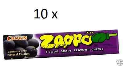 10 pcs. ZAPPO Grape Flavour Chews 26g