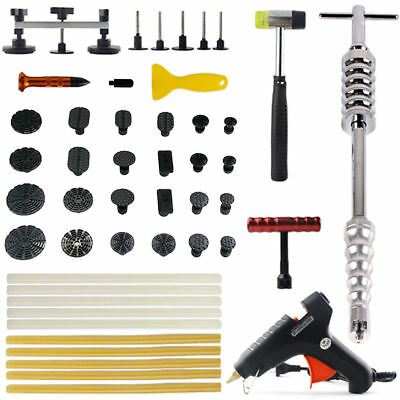 Paintless Dent Repair PDR Kits Puller Lifter Tab Hail Removal Slide Hammer Tools