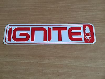 Ignite snowboard sticker