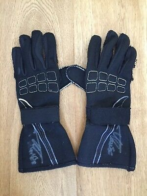 Used & Signed Mclaren Mercedes Gloves From Fernando Alonso