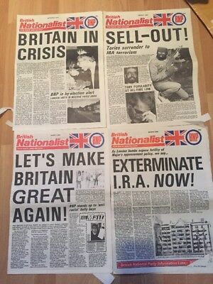 4 British Nationalist BNP Newspapers '90s British National Party National Front