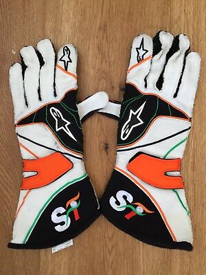 Used Force India Gloves From Jules Bianchi (+)