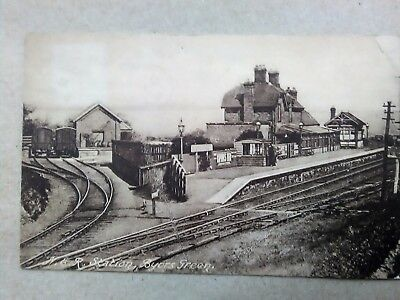 County Durham BYERS GREEN RAILWAY STATION Old Postcard to Tanfield Lea
