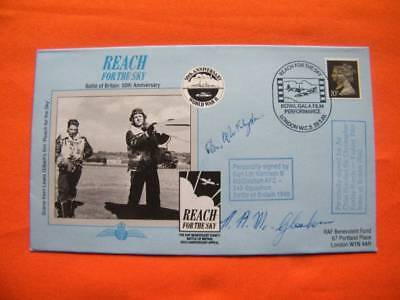 Reach for the sky 1990 Battle of Britain Cover Signed McGlasshan, Foxley Norris