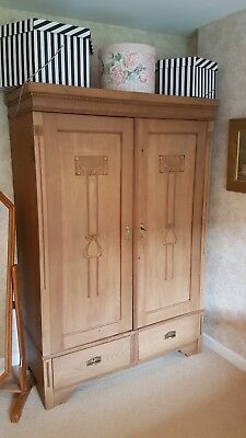 VICTORIAN 19th CENTURY  ANTIQUE PINE HAND CARVED KNOCKDOWN WARDROBE (KNOCK DOWN)