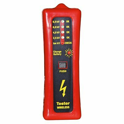 Kerbl Wireless Electric Fence Tester Voltage Testing 8000 V Red and Black 44669