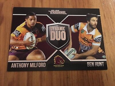 2016 ESP Traders NRL Dynamic Duo: Ben Hunt/Anthony Milford, Brisbane Broncos
