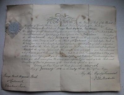 Manchester Regt. Edward VII Signed Document Commission Queen Victoria 1900
