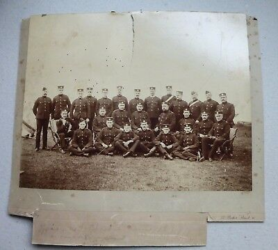 Portrait Officers 4th Cheshire Regiment Conway Marsh 1877