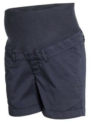H&M navy maternity chino shorts.size 10. NWT